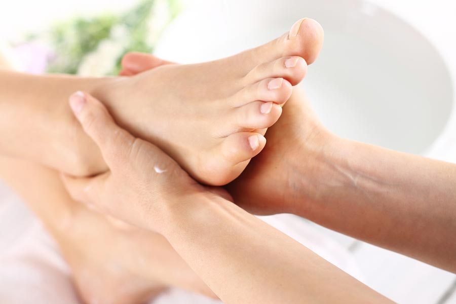 Detail picture of a foot massage