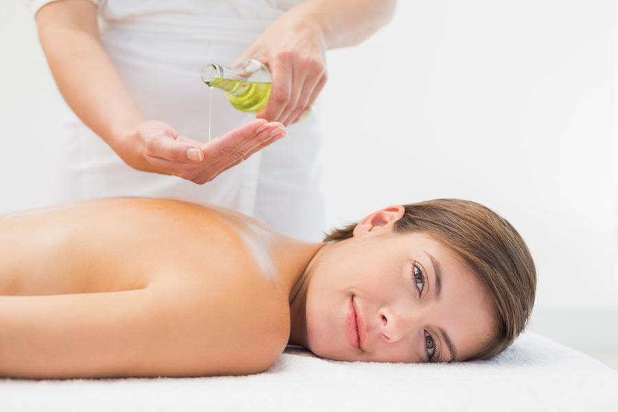 Massage with body oils