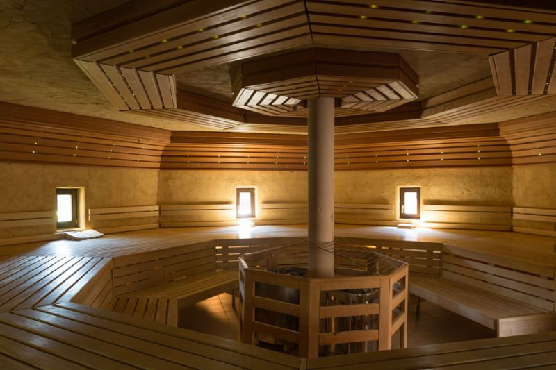 Sauna and relax in the sauna area of ​​the AVITA Therme