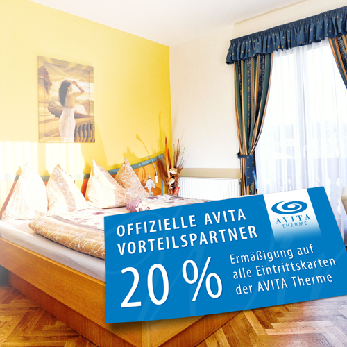 Picture of the AVITA partner discount card of the Martinihof