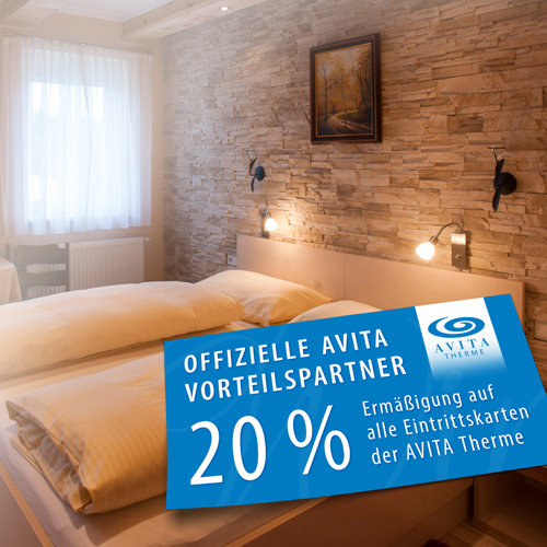 Picture of the AVITA partner discount card of the Hotel Treiber